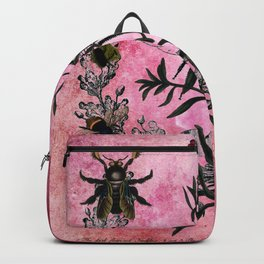 Vintage Bees with Toadflax Backpack