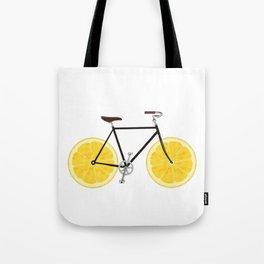 Lemon Bike Tote Bag