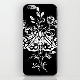 butterfly black iPhone Skin
