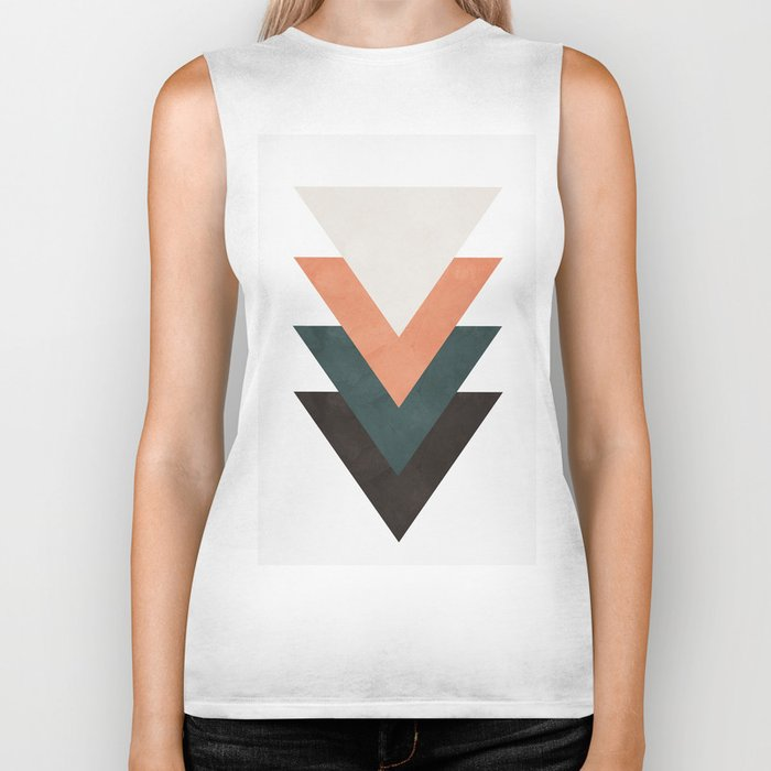 Abstract Triangles Biker Tank