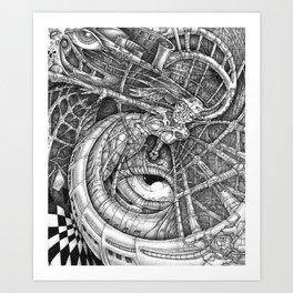 Blanket Excitement Art Print