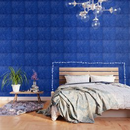 Dark Blue Ombre Burnished Stucco - Faux Finishes - Venetian Plaster Wallpaper