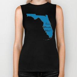 Turn Florida Blue! Vote Proud Democrat Liberal! 2018 Midterms Biker Tank