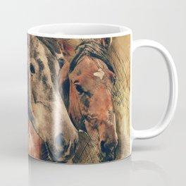 Galloping Wild Mustang Horses Coffee Mug