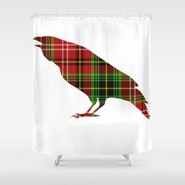 Tartan Crow Shower Curtain