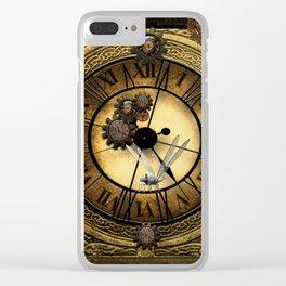 Steampunk design Clear iPhone Case