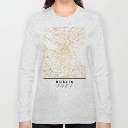 DUBLIN IRELAND CITY STREET MAP ART Long Sleeve T-shirt