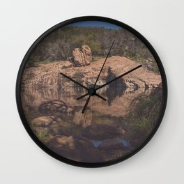 Inks Lake Reflection Wall Clock
