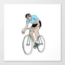 Coppi on Track Canvas Print