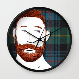 Beard Boy: Finlay Wall Clock