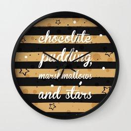 Chocolate Pudding Wall Clock