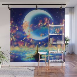 STARRY NIGHT MERMAID Wall Mural