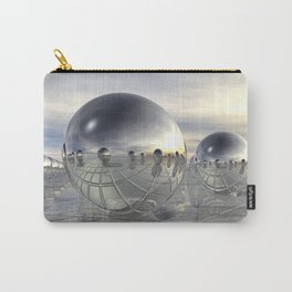 Reflecting 3D Spheres Carry-All Pouch
