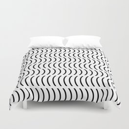 Smiley Small B&W Duvet Cover