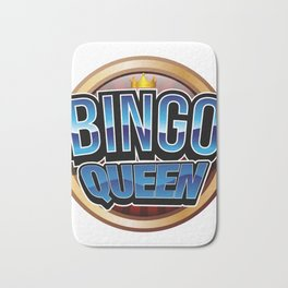 Bingo Queen Bingo Player Gift Funny Bath Mat