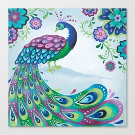 Flaunting It Peacock Canvas Print