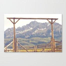 Western Mountain Ranch Canvas Print