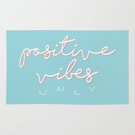 POSITIVE VIBES ONLY - BLUE Rug
