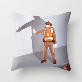 Mandatory Tipping (The Checkpoint) Throw Pillow
