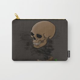 skull in the smoke Carry-All Pouch
