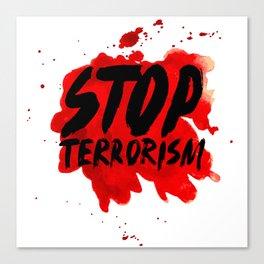 Stop terrorism Canvas Print