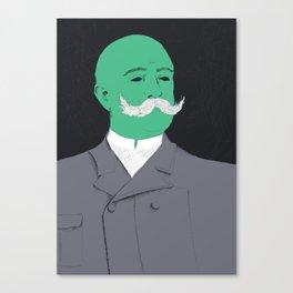 Stache man Canvas Print