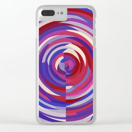 Berry Circles Abstract Clear iPhone Case