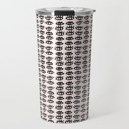 Pink Black Wall Art, Eyes Pattern, Vanity Decor, Modern, Pattern, Pop Art Travel Mug