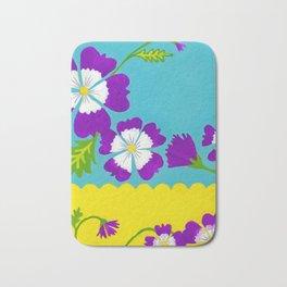 Summer Folk Flowers Bath Mat
