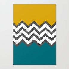Color Blocked Chevron Canvas Print