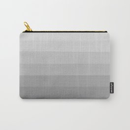 Clean Grey Lines - Gradient Grayscale Stripes Abstract Carry-All Pouch