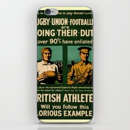 British rugby, football players call for duty iPhone Skin