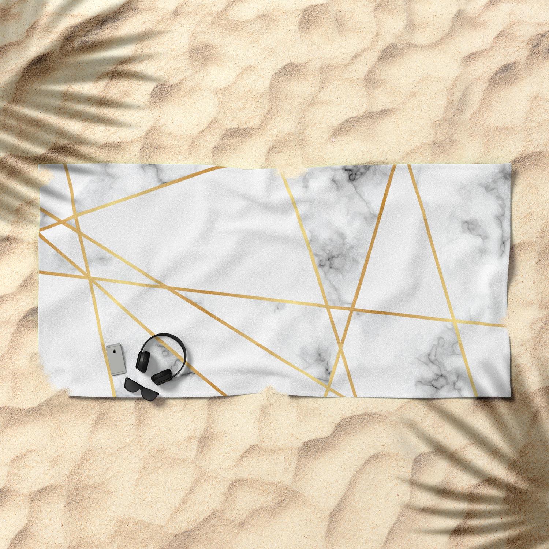 CafePress ROYAL1 BLACK MARBLE /& GOLD BRUSHED MET Beach Towel 1769040626