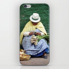 Vegetable and Fruit vendor, Cuenca, Ecuador iPhone Skin