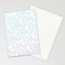 Intricate diamonds Stationery Cards