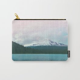 Mountain Lake - Nature Photography - Turquoise Teal Pink Carry-All Pouch