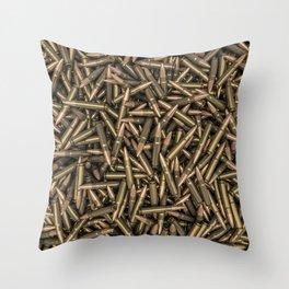 Rifle bullets Throw Pillow