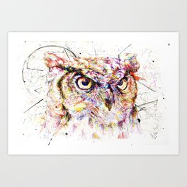 Owl // Ahmyo Art Print