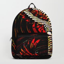 0395s-PDJ Winged Angel of Inner Passion Zebra Striped Nude Power Woman Backpack