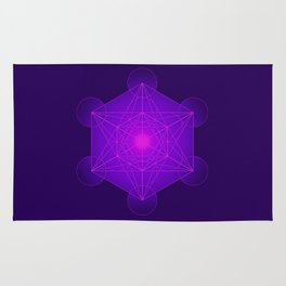 Metatron | Cube | Secret Geometry | Platonic | Matrix | Protects children Rug