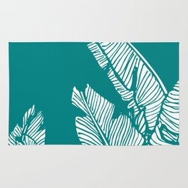 Banana Leaves on Teal #society6 #decor #buyart Rug