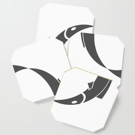 Fish style Fashion Modern Design Print! Fishing and eat Fish sign emblem badge Coaster