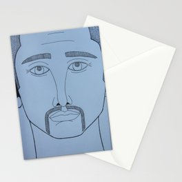 Man face, AM Stationery Cards