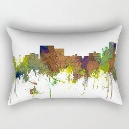 Chatanooga Tennessee Skyline - Safari Buff Rectangular Pillow