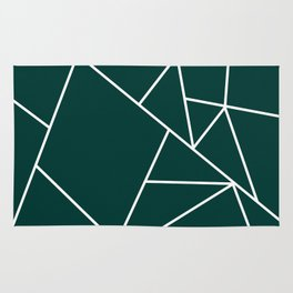 Evergreen Mountain Lines Rug