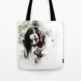 Watercolor Zombie, Horror Zombie, Cool Women Zombie Painting Tote Bag