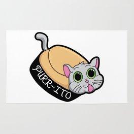 Purr-ito Kitty Burrito Rug