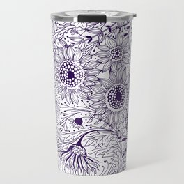 Floral doodles Travel Mug