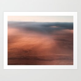 Above the Cloud Looking over the Earth - Landscape Photography Art Print