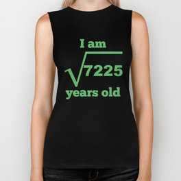 I Am 85 Years Old Square Root 85th Birthday Biker Tank